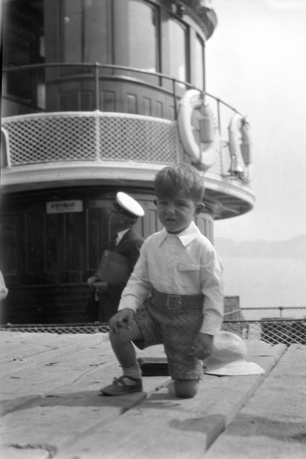 Bob on a dock witht the Steamer Tahoe behind
