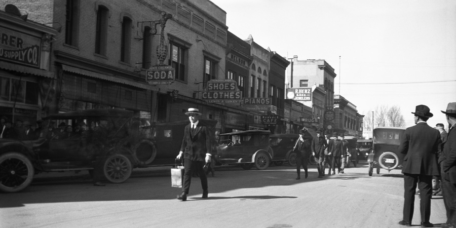 Downtown Reno in the 1920s.