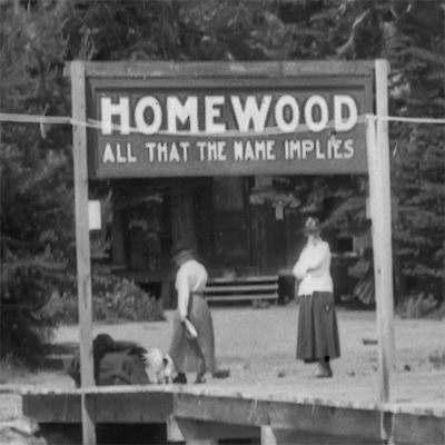Homewood dock sign