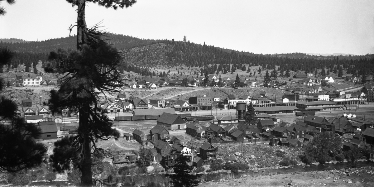 Truckee, California... around 1920.